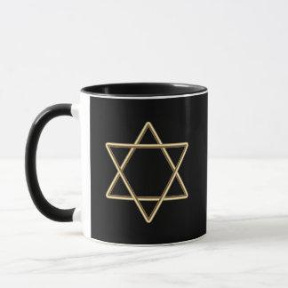 Estrella de David para la barra Mitzvah o el palo Taza