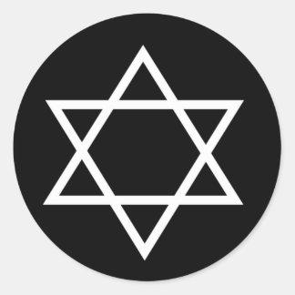 Estrella de David Etiqueta Redonda