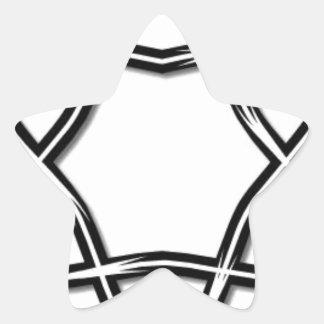 Estrella de David Pegatina En Forma De Estrella