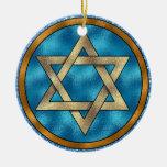 Estrella de David - Shalom - SRF Ornamento De Reyes Magos