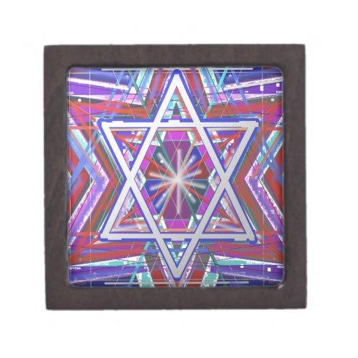 Estrella de David,… una mezcla de colores Cajas De Regalo De Calidad