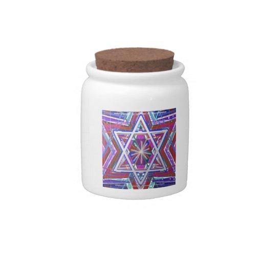 Estrella de David,… una mezcla de colores Platos Para Caramelos