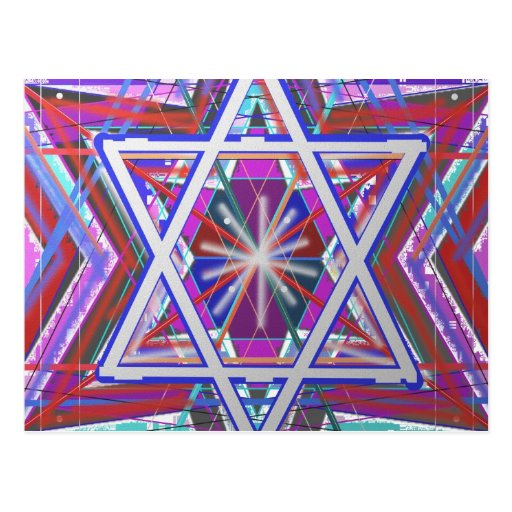 Estrella de David,… una mezcla de colores Postal