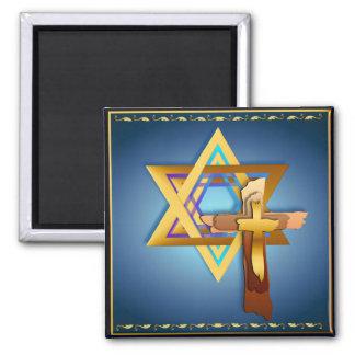 Estrella de David y de imanes cruzados triples Iman