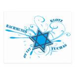 Estrella de David y postal frescas de las palabras