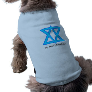 """Estrella de """"de la camisa Mitzvah de la corteza"""" Playera Sin Mangas Para Perro"""