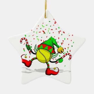Estrella de doble cara C del duende del navidad Adorno Navideño De Cerámica En Forma De Estrella