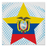 Estrella de Ecuador Poster