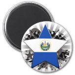 Estrella de El Salvador Imán Redondo 5 Cm