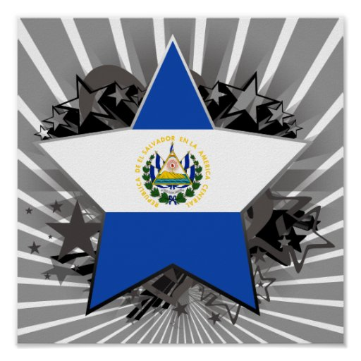 Estrella de El Salvador Póster