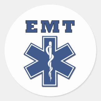 Estrella de EMT de la vida Pegatinas Redondas