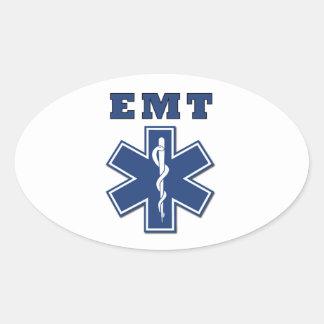 Estrella de EMT de la vida Pegatina Ovalada