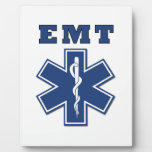 Estrella de EMT de la vida Placa De Plastico