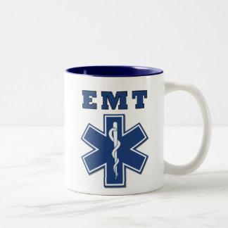 Estrella de EMT de la vida Taza De Dos Tonos