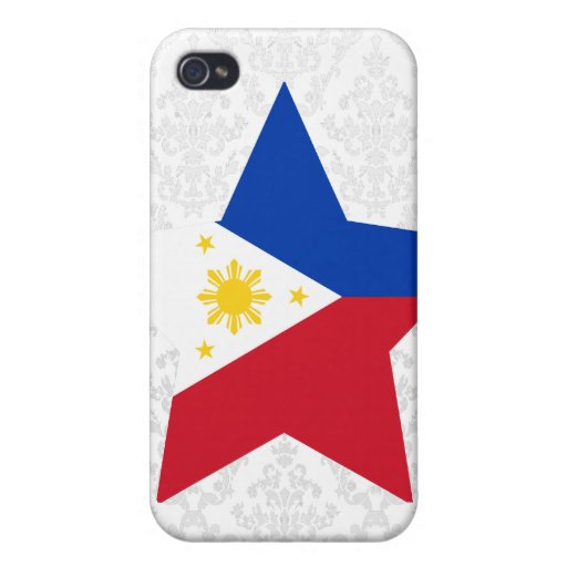 Estrella de Filipinas iPhone 4/4S Carcasa