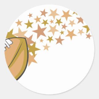 Estrella de fútbol brillante pegatina redonda