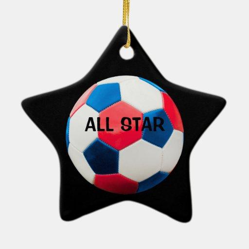 Estrella de fútbol de All Star Adornos