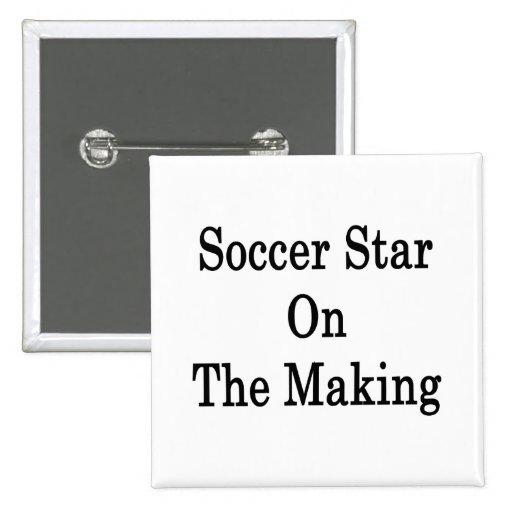 Estrella de fútbol en la fabricación pins