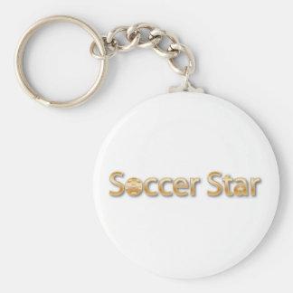 Estrella de fútbol llavero redondo tipo pin
