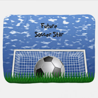 Estrella de fútbol mantas de bebé