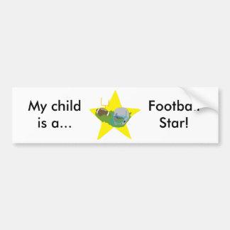 ¡Estrella de fútbol!  Personalizable: Pegatina Para Auto