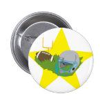¡Estrella de fútbol!  Personalizable: Pin