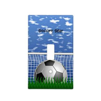 Estrella de fútbol placas para interruptor