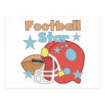 Estrella de fútbol postales