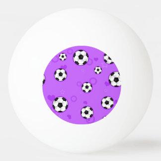 Estrella de fútbol púrpura linda pelota de ping pong