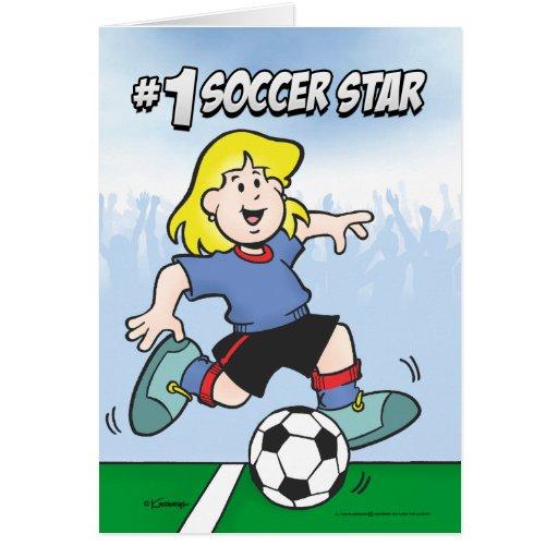 Estrella de fútbol tarjeta