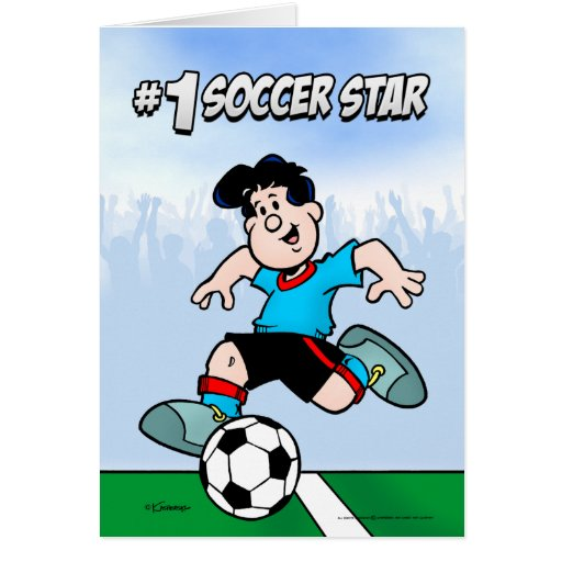 Estrella de fútbol felicitación