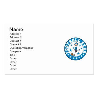Estrella de fútbol tarjetas de visita