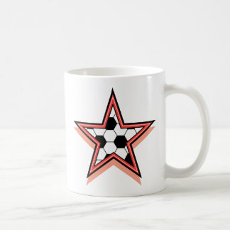 Estrella de fútbol taza