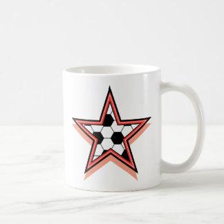 Estrella de fútbol taza de café