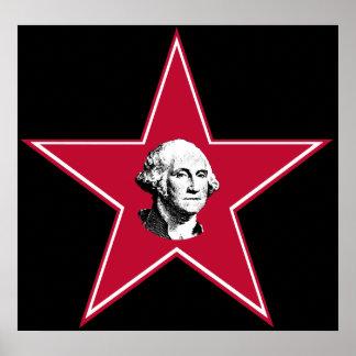 Estrella de George Washington Poster