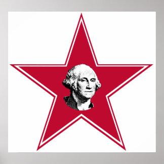 Estrella de George Washington Posters