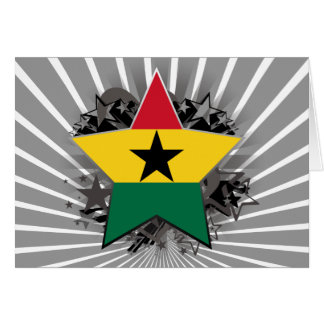 Estrella de Ghana Tarjeta De Felicitación