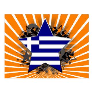 Estrella de Grecia Tarjeta Postal