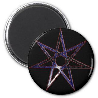 Estrella de hadas del orgullo de cuero imán redondo 5 cm