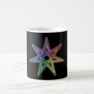 Estrella de hadas del orgullo gay taza básica blanca
