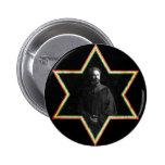 Estrella de Haile Selassie de David Pin Redondo De 2 Pulgadas