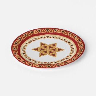 Estrella de Hamentashen de la placa de papel de Plato De Papel De 7 Pulgadas