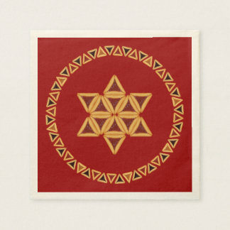 Estrella de Hamentashen de las servilletas de Servilleta De Papel