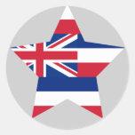 Estrella de Hawaii Etiqueta Redonda