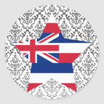 Estrella de Hawaii Etiquetas Redondas