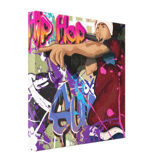 Estrella de Hip Hop Lona Envuelta Para Galerias