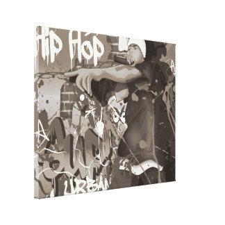 Estrella de Hip Hop Lienzo Envuelto Para Galerias
