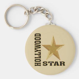 Estrella de Hollywood Llavero Redondo Tipo Pin