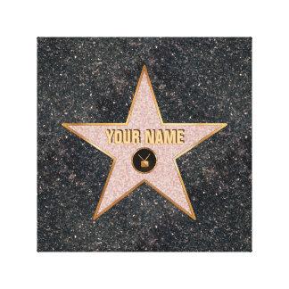 Estrella de Hollywood TV Lienzo Envuelto Para Galerías