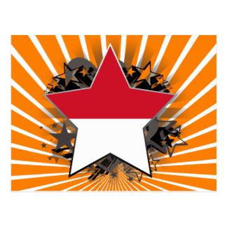 Estrella de Indonesia Tarjeta Postal